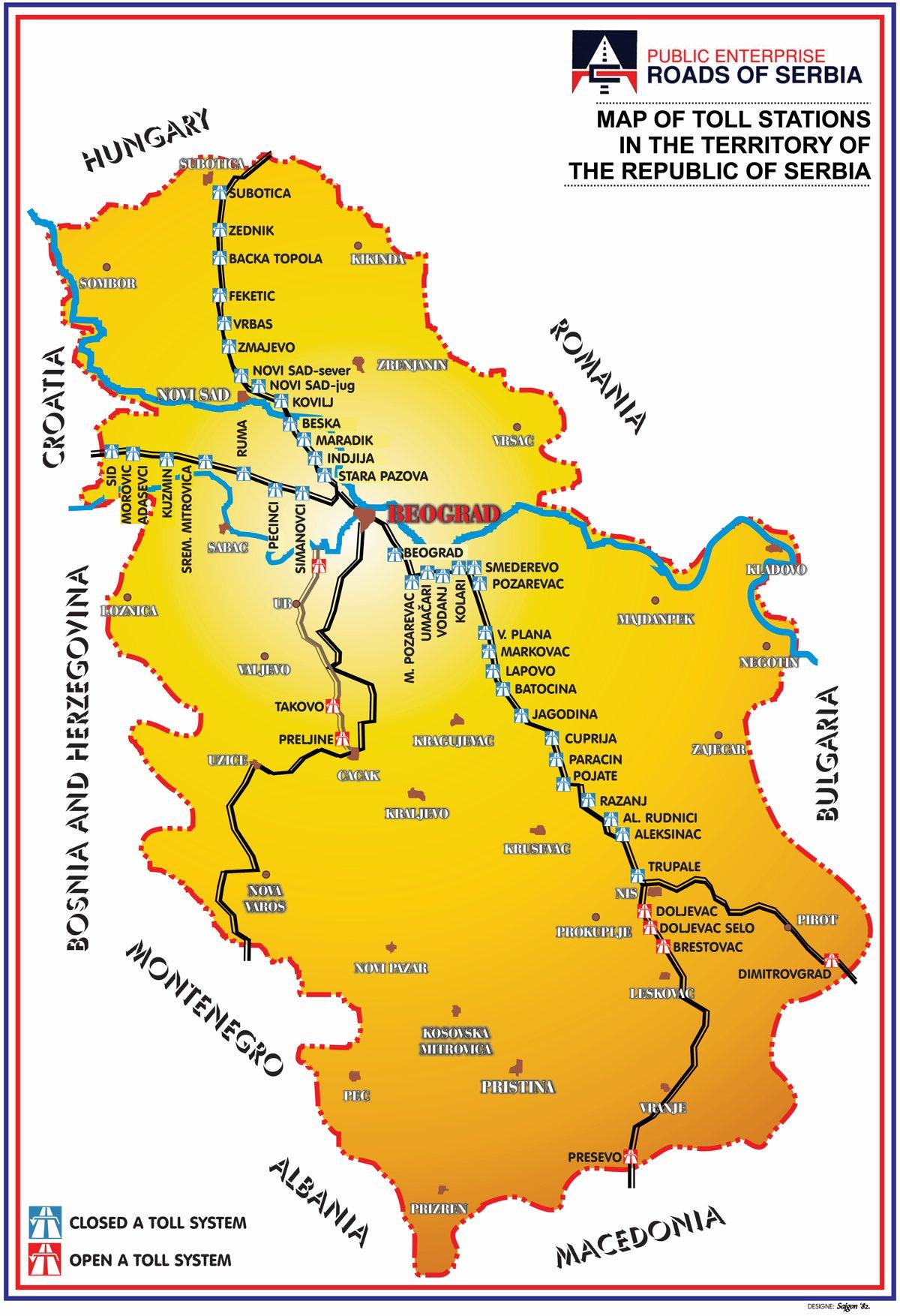 Highway toll Serbia - Tolls.eu